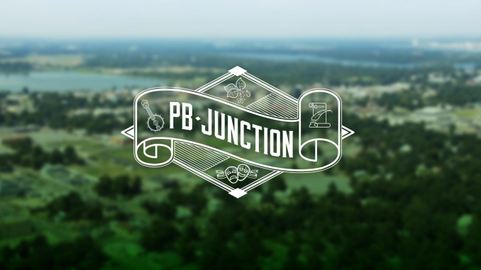 PB Junction header image. PB Junction logo over aerial view of Pine Bluff, AR. Copyright 2016-2018 PB Junction, LLC