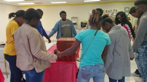 Full Circle 360: Prayer and fellowship are always part of this youth ministry in Pine Bluff, Arkansas. Credit: Full Circle 360