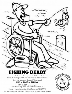 Fishing derby flyer. Challenged Outdoorsmen of America, Arkansas Chapter. May 2017. Credit: COA Arkansas Chapter