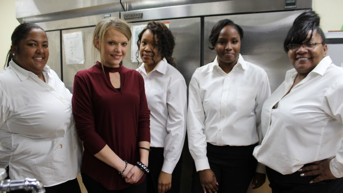 """The talent behind the four course meal at the Inaugural Chef's Dinner held by the Front Porch Hospitality Group in Pine Bluff, AR, on December 3, 2018. The Group plans for Pine Bluff to have its own culinary teams in the future. Credit: <a href=""""https://www.facebook.com/CharityAshcraftPhotography"""" target=""""_blank"""" rel=""""noopener"""">Charity Stephens</a>"""
