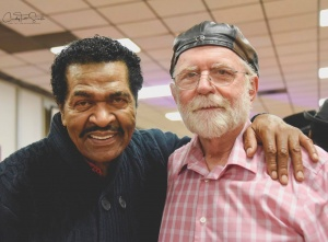 A starlit night: Grammy winner Bobby Rush with Rockabilly hall-of-famer George Scaife of the Highway 49 Blues Band. Credit: Cindy Tutt Scaife Photography