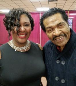 Pamela Hayes, a key tribute program committee member, with Bobby Rush on November 30, 2018, in Pine Bluff, Arkansas. Credit: Pamela Hayes