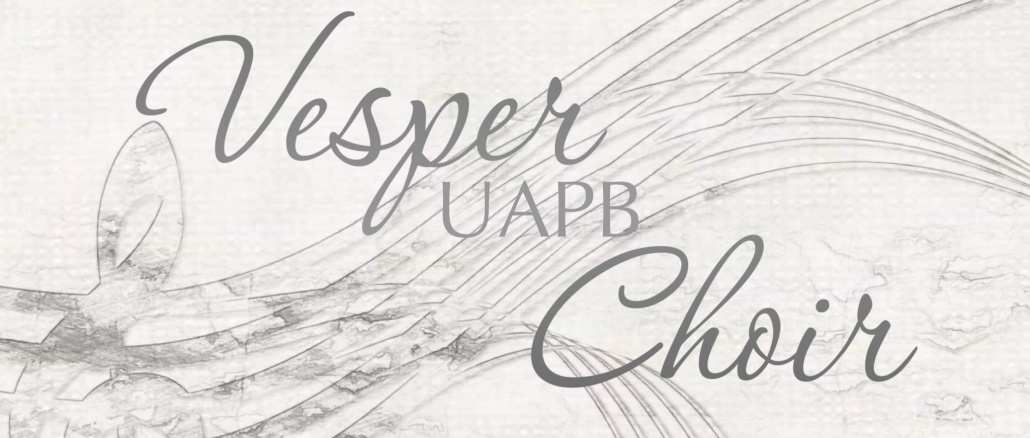 Banner image with text announcing UAPB Vesper Choir