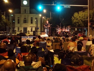 Dave Sadler, Blues and Jazz musician, performs in Pine Bluff, Arkansas. Credit: Dave Sadler Music (Visit davesadlermusic.com for more.)