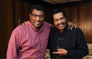 DRBA CEO Jimmy Cunningham, Jr., and World-Class Blues artist Bobby Rush in Pine Bluff in 2018. Credit: DRBA & Jimmy Cunningham, Jr.