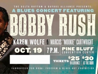 Image of ticket to A Blues Concert Featuring Bobby Rush, sponsored by the Delta Rhythm and Bayous Alliance (DRBA)